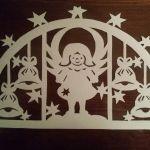 Трафарет из бумаги снеговик на новогоднюю игрушку