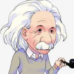 Шаблон фотография эйнштейна для фотошопа